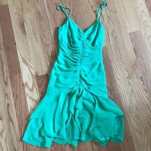 Jade green ABS drop waist dress